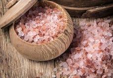 喜马拉雅山桃红色盐 免版税图库摄影