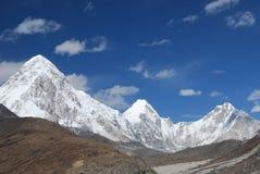 喜马拉雅山横向 免版税库存照片