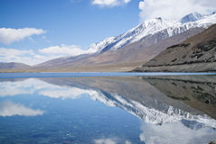 喜马拉雅山湖pangong tso 库存照片