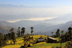 喜马拉雅山的山麓小丘 免版税图库摄影