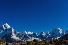 喜马拉雅山的斯诺伊山 库存图片