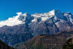 喜马拉雅山的斯诺伊山 库存照片