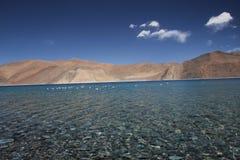 喜马拉雅山的湖 库存图片