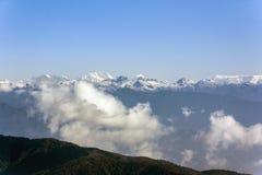 喜马拉雅山视图 图库摄影