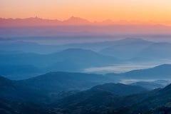 喜马拉雅山视图 库存图片