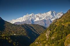 喜马拉雅山风景尼泊尔 免版税库存图片