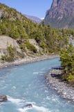 喜马拉雅山风景 美好的风险长的山河 迁徙的路线到Dolpo -西尼泊尔,喜马拉雅山 免版税图库摄影