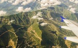 喜马拉雅山鸟瞰图! 免版税库存图片