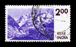 喜马拉雅山,国家主题serie,大约1975年 免版税库存照片