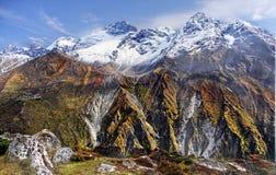 喜马拉雅山,珠穆琅玛地区 图库摄影
