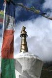 喜马拉雅山stupa 库存照片