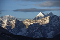喜马拉雅日出 库存图片