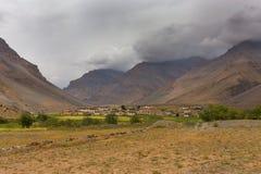 喜马拉雅村庄 免版税库存照片