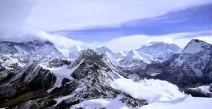 喜马拉雅横向 库存图片