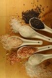 喜马拉雅水晶矿物岩盐,桃红色,黑暗的桃红色,白色,Halite,黑色,路线五谷 库存照片