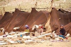 喜马拉雅游牧人 免版税库存图片
