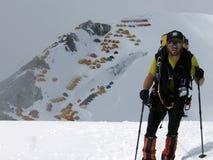 喜马拉雅的登山人 库存照片