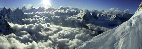 喜马拉雅的黄昏 库存照片