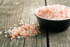 喜马拉雅盐 免版税库存照片