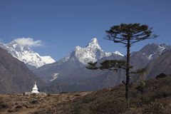 喜马拉雅看法 免版税库存图片