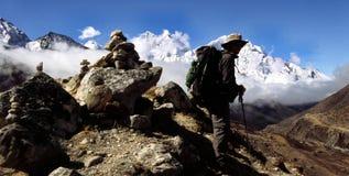 喜马拉雅trekker 免版税库存图片