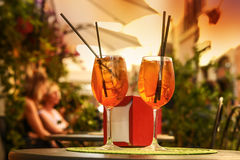 喝一杯在罗马,意大利 免版税库存照片