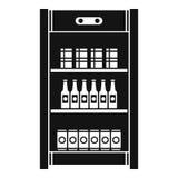 喝冰箱象,简单的样式 向量例证