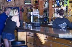 喝在酒吧的人们 库存图片