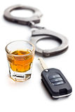 喝酒开车的概念 免版税库存图片