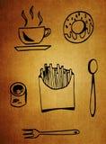 喝食物 向量例证