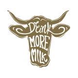 喝更多牛奶 免版税库存图片