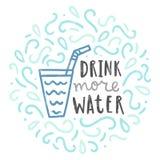 喝更多水 免版税库存图片