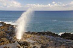 喷出的垫铁考艾岛 免版税库存图片