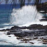 喷出的垫铁考艾岛 库存图片