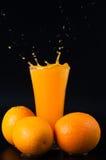 喷出的汁液和柑橘水果 免版税库存照片