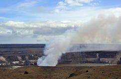 喷发火山口,夏威夷火山公园 库存图片