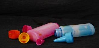 喷墨机颜色瓶 免版税库存图片