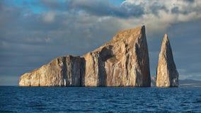 喷射器岩石在加拉帕戈斯群岛 库存图片