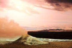 喷气孔在冰岛 免版税库存图片