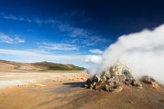 喷气孔领域在Namafjall地热地区, Hverir, 库存图片
