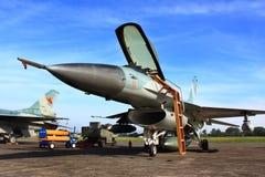 喷气式歼击机军人 免版税库存图片