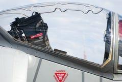 喷气式歼击机的驾驶舱 库存照片