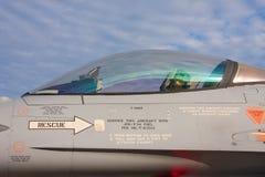 喷气式歼击机驾驶舱 图库摄影