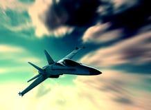 喷气式歼击机 库存图片