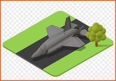 喷气式歼击机传染媒介 库存照片