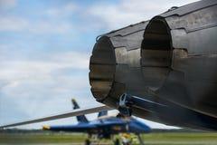 喷气式歼击机引擎 免版税库存图片