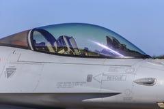 喷气式歼击机机盖 库存图片