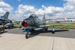 喷气式歼击机航空器加拿大人的CL-13A马刀5 库存图片