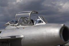 喷气式歼击机航空器米高扬Gurevich米格-15驾驶舱细节为苏联开发了 图库摄影