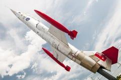 喷气式歼击机(CF-104 Starfighter) 免版税库存照片